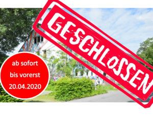 Jugendzentrum ab sofort bis vorerst 20.04.2020 geschlossen